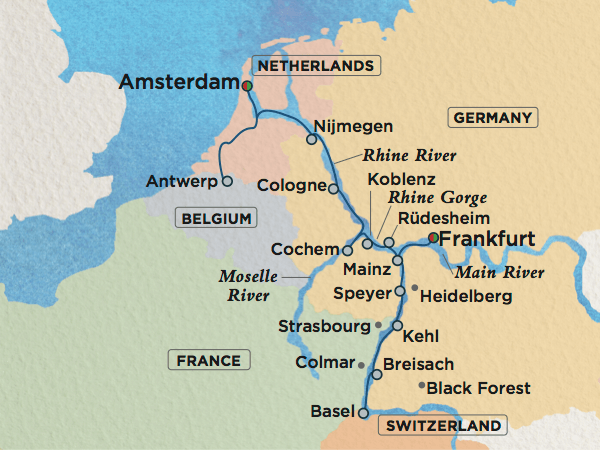 River Cruise Itinerary Crystal Bach