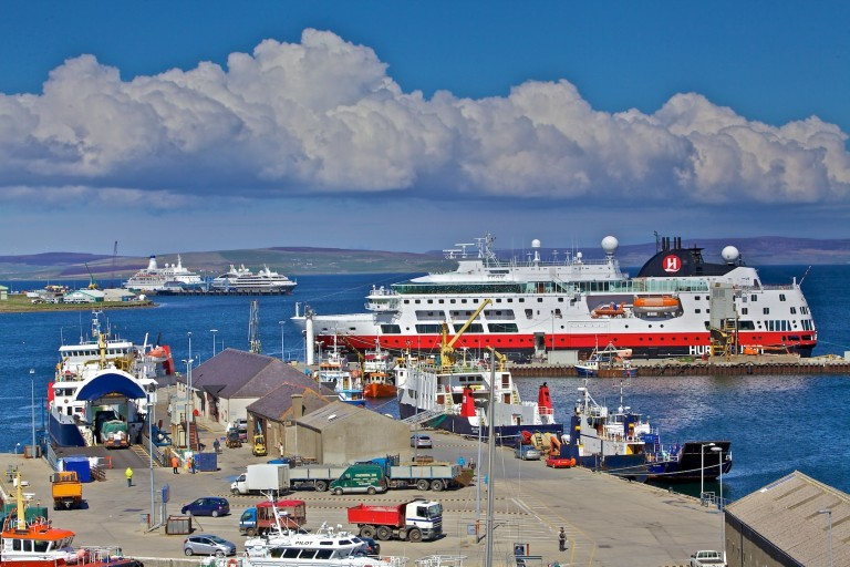 Orkney Hurtigruten Cruise ship