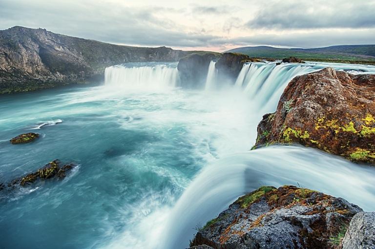 Iceland Cruise Godafoss Waterfall