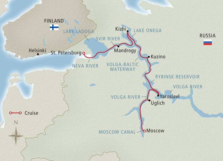 Viking River Cruise Volga Map
