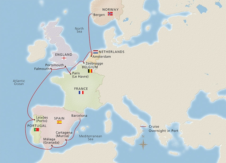 Viking Ocean Trade Routes of the Middle Ages