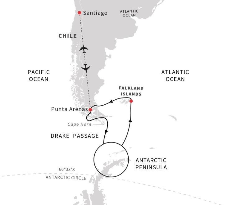 Roald Amundsen Itinerary