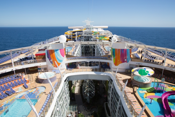 Symphony of the Seas Pool Deck
