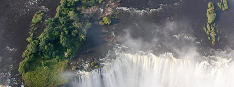 An ariel view of Victoria Falls